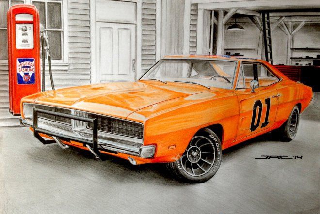 General Lee drawing
