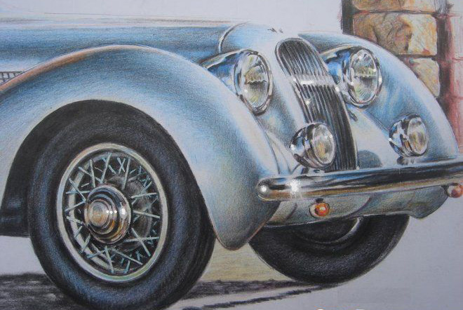 Classic Jaguar color drawing