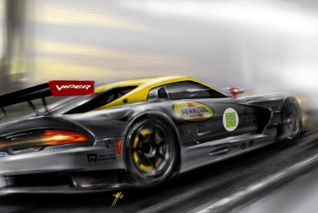 Dodge Viper color drawing