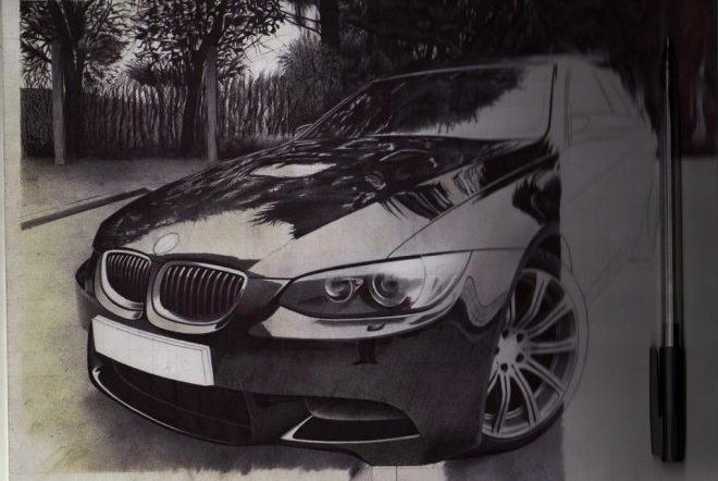 BMW M3 black and white