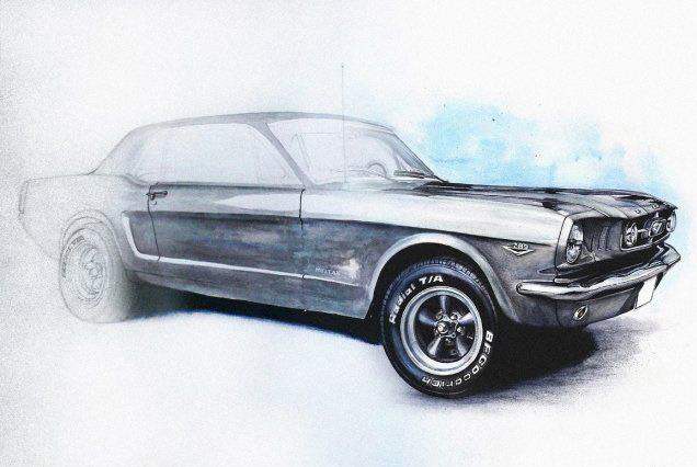Ford Mustang in progress
