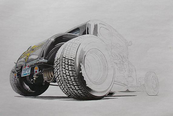 Hot Rod drawing