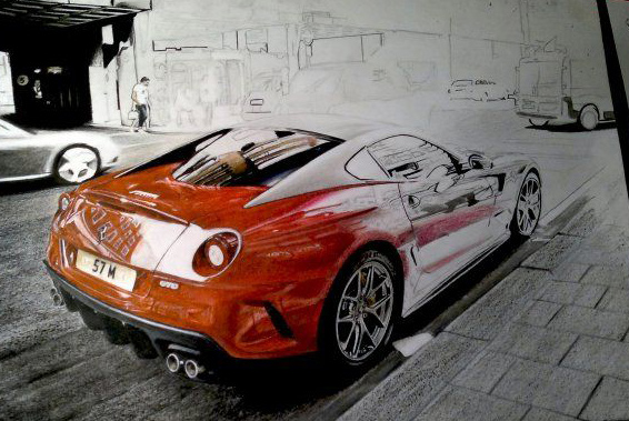Ferrari 599 GTO in progress